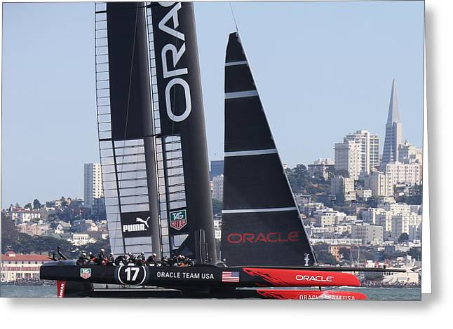 Oracle Greeting Cards - Americas Cup 34 Greeting Card by Steven Lapkin