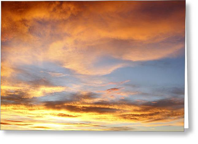 Sunset Abstract Photographs Greeting Cards - Bright sky  Greeting Card by Les Cunliffe