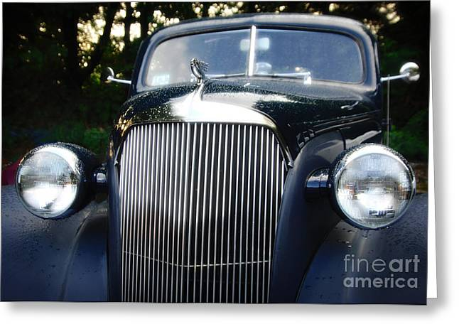 1937 Chevy Greeting Cards - 37 Chevy Greeting Card by Jim  Calarese