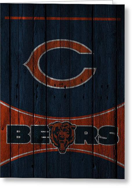 Offense Photographs Greeting Cards - Chicago Bears Greeting Card by Joe Hamilton