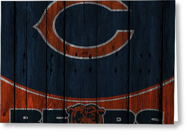 CHICAGO BEARS Greeting Card by Joe Hamilton