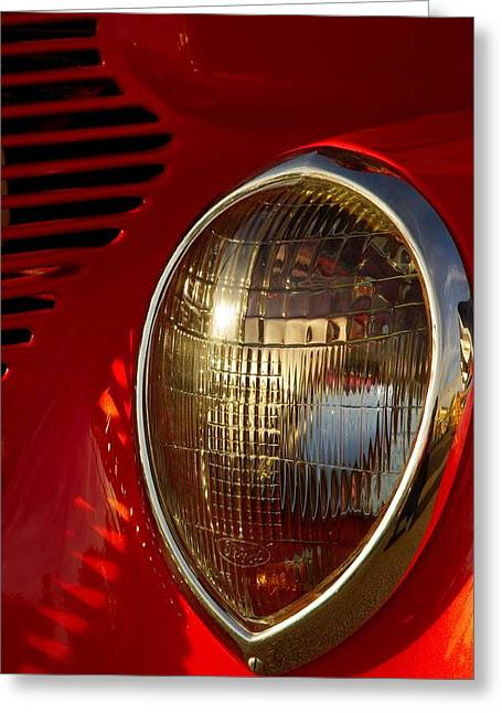 Paul Wash Greeting Cards - 37 Ford Standard Coupe Headlight Greeting Card by Paul Wash
