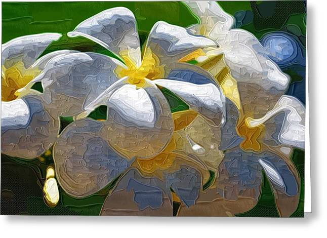 Flowers Posters Greeting Cards - Paintings With Flowers Greeting Card by Victor Gladkiy