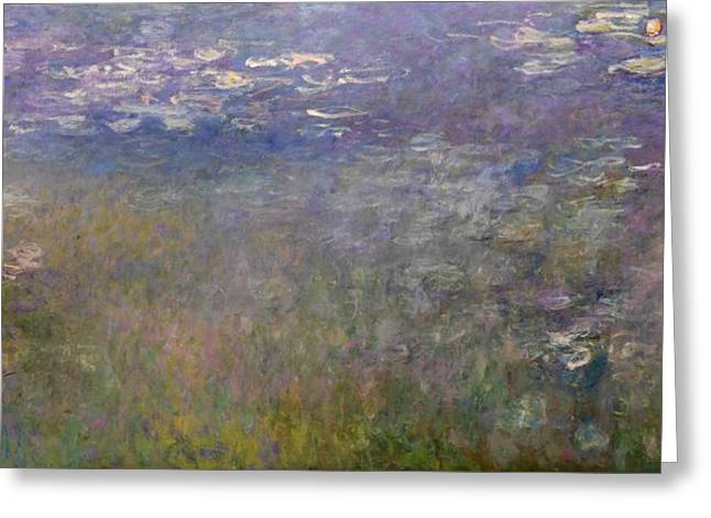 Kansas City Paintings Greeting Cards - Water Lilies Greeting Card by Claude Monet