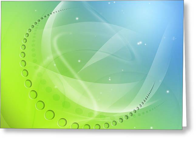 Science Background Greeting Cards - Abstract background Greeting Card by Les Cunliffe