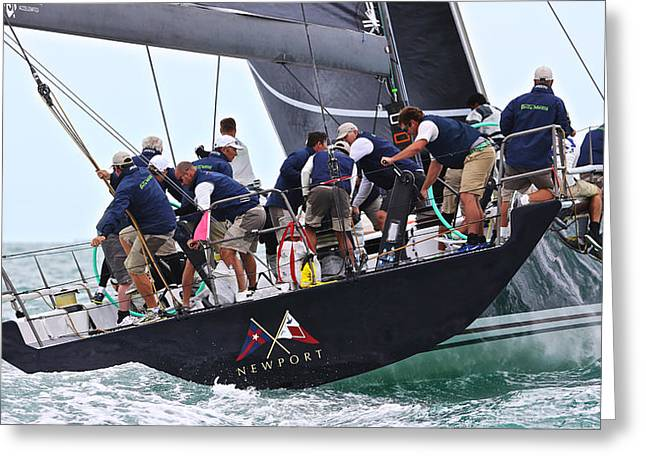 H2omark Greeting Cards - Key West Race Week Greeting Card by Steven Lapkin