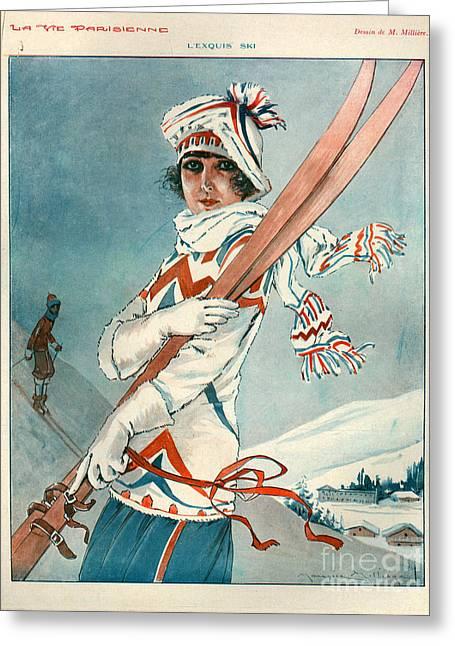 Parisienne Greeting Cards - 1920s France La Vie Parisienne Greeting Card by The Advertising Archives