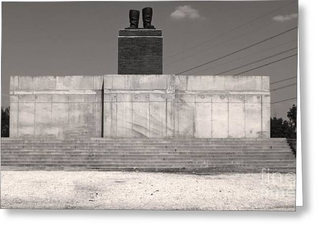 Lenins Boots-budapest Memento Park-communist Statues Park Greeting Card by Gregory Dyer