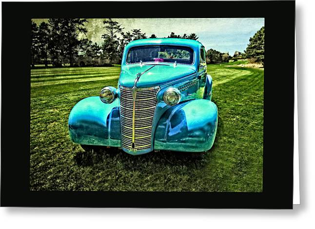 Guy Gifts For Him Greeting Cards - 38 Chevrolet Classic Automobile Greeting Card by Thom Zehrfeld