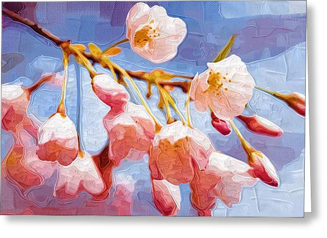 Prints Of Flowers Greeting Cards - Flowers and Paintings Greeting Card by Victor Gladkiy