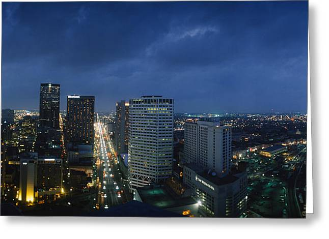 Louisiana Greeting Cards - High Angle View Of Buildings In A City Greeting Card by Panoramic Images