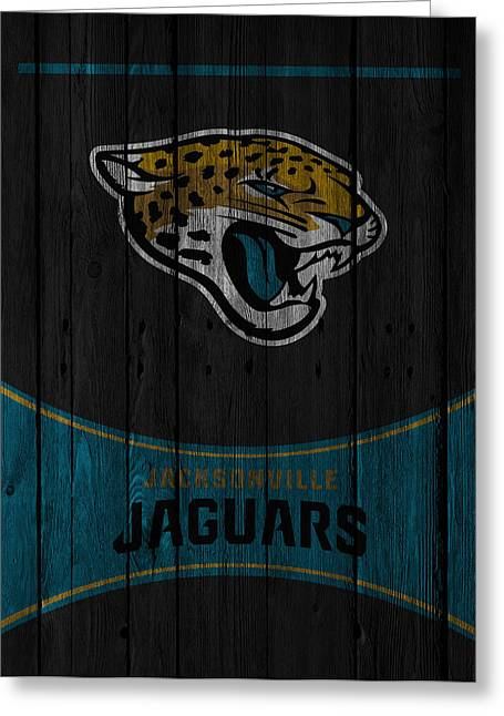Recently Sold -  - Jacksonville Greeting Cards - Jacksonville Jaguars Greeting Card by Joe Hamilton