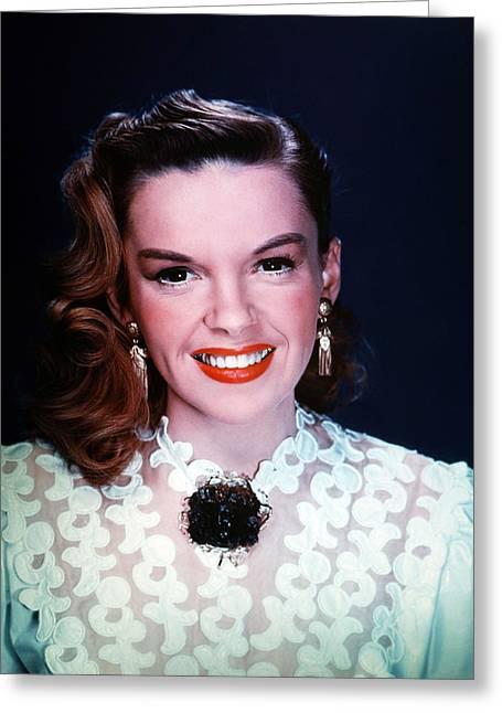 Judy Garland Greeting Cards - Judy Garland Greeting Card by Silver Screen