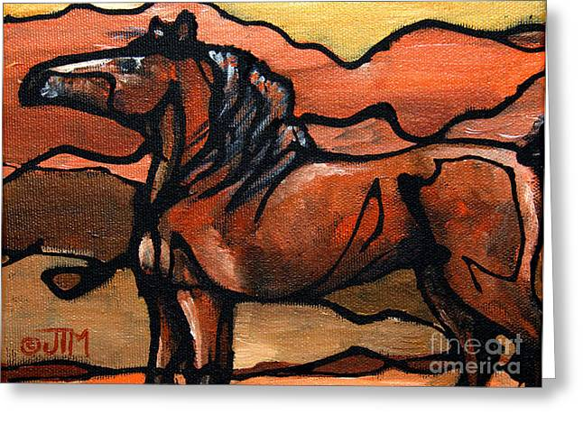 Paso Fino Stallion Greeting Cards - #38 June 29th Greeting Card by Jonelle T McCoy