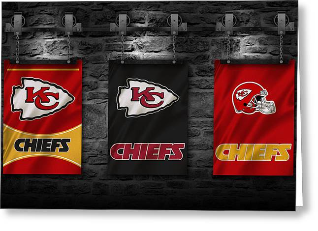 Team Greeting Cards - Kansas City Chiefs Greeting Card by Joe Hamilton