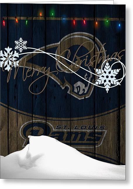 Rams Greeting Cards - St Louis Rams Greeting Card by Joe Hamilton