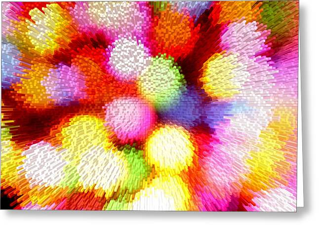 Brilliant Color Greeting Cards - Abstract background Greeting Card by Les Cunliffe