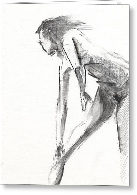 White Drawings Greeting Cards - RCNpaintings.com Greeting Card by Chris N Rohrbach