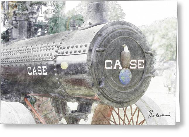 United States Pastels Greeting Cards - Antique Tractor Greeting Card by Tim Mulholland