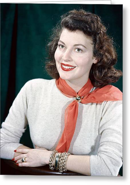 Ava Greeting Cards - Ava Gardner Greeting Card by Silver Screen