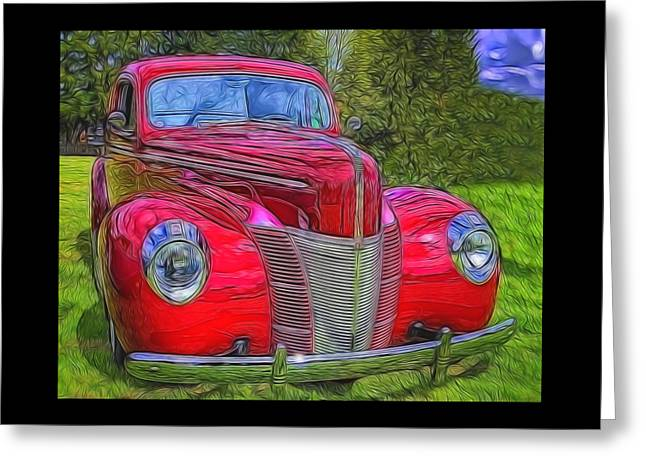 Unique Gifts Greeting Cards - 39 Ford Coupe  Greeting Card by Thom Zehrfeld