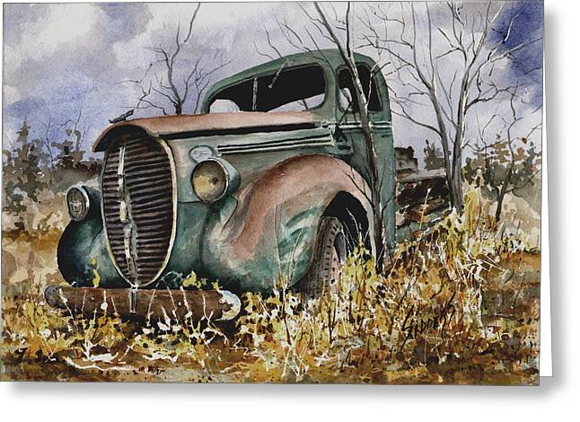 1939 Greeting Cards - 39 Ford Truck Greeting Card by Sam Sidders