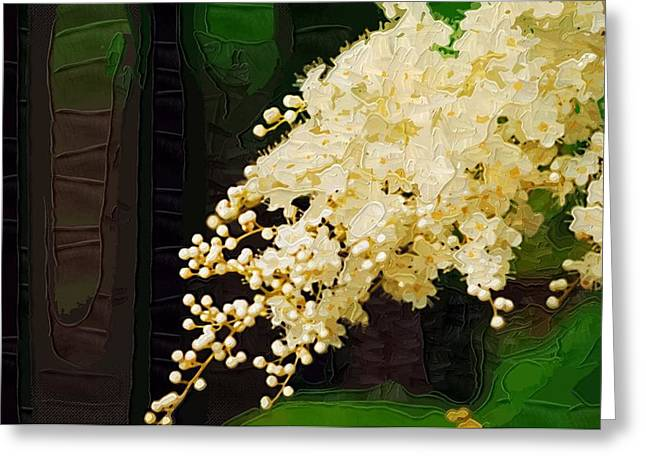 Prints Of Flowers Greeting Cards - Paintings With Flowers Greeting Card by Victor Gladkiy