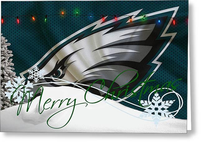 Ball Greeting Cards - Philadelphia Eagles Greeting Card by Joe Hamilton