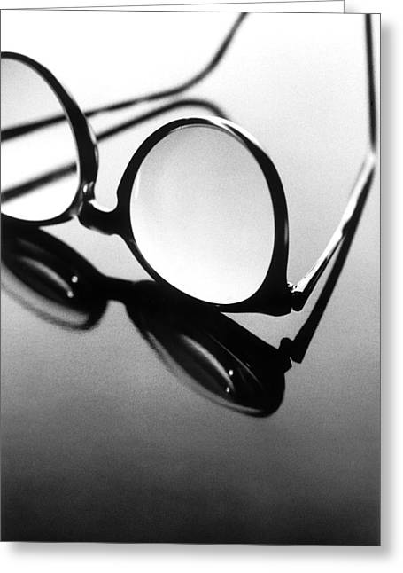 Glass Table Reflection Greeting Cards - Untitled Greeting Card by Didier Gaillard