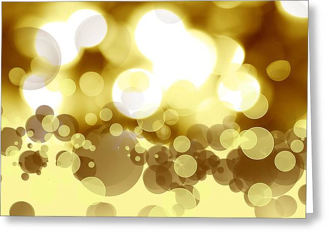 Illuminate Greeting Cards - Abstract background Greeting Card by Les Cunliffe