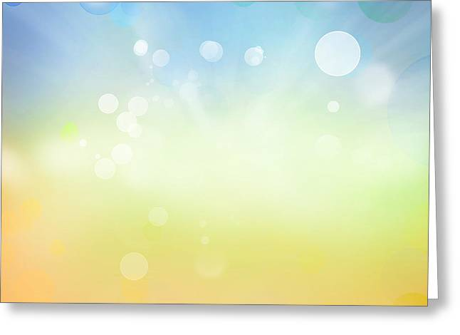 Bright Digital Greeting Cards - Abstract background Greeting Card by Les Cunliffe