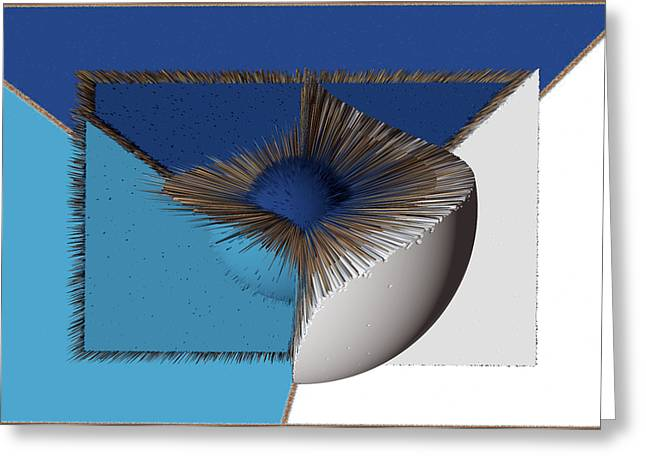 3d Abstract 19 Greeting Card by Angelina Vick