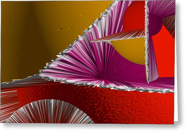 3D Abstract 6 Greeting Card by Angelina Vick