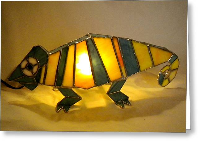 Animal Glass Greeting Cards - 3D Animal Lights by Michelle Lodge Greeting Card by Studio One Seventy Two