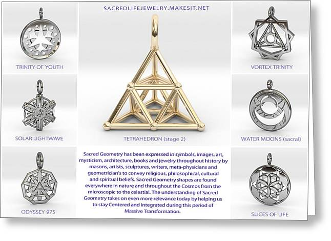 Sacred Jewelry Greeting Cards - 3d Art Models 2 Greeting Card by Derek Gedney