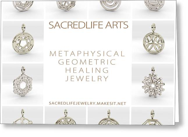 Sacred Jewelry Greeting Cards - 3D Arts Models 3 Greeting Card by Derek Gedney