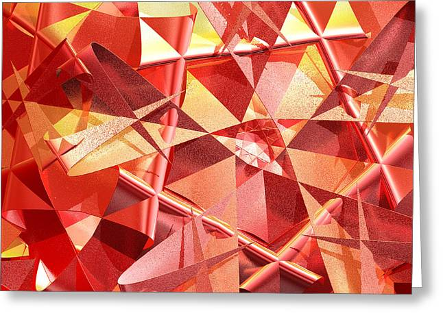 Geometric Artwork Greeting Cards - 3D folded abstract Greeting Card by Gaspar Avila