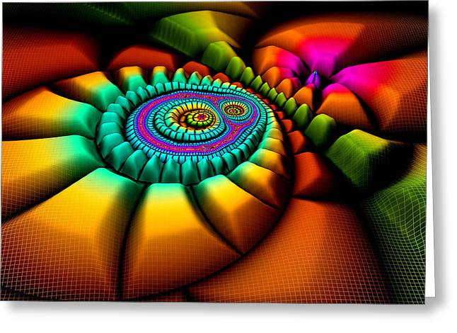 3d Greeting Cards - 3D Fractal Greeting Card by Meir Ezrachi