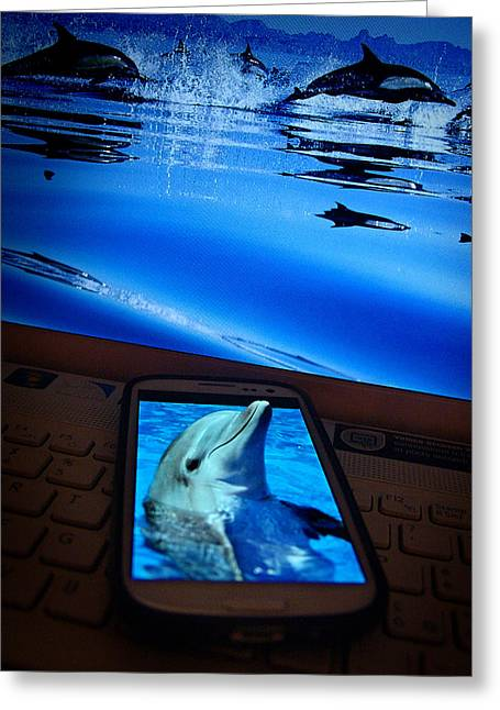 Tricks Greeting Cards - 3D phone... Greeting Card by Alessandro Della Pietra