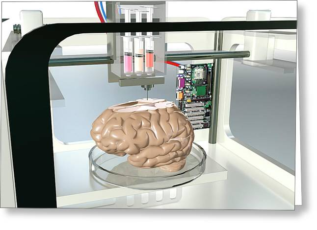 3d Printed Brain Greeting Card by Christian Darkin