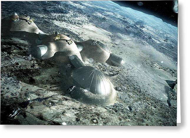 3d Printed Lunar Base Greeting Card by Esa/foster + Partners