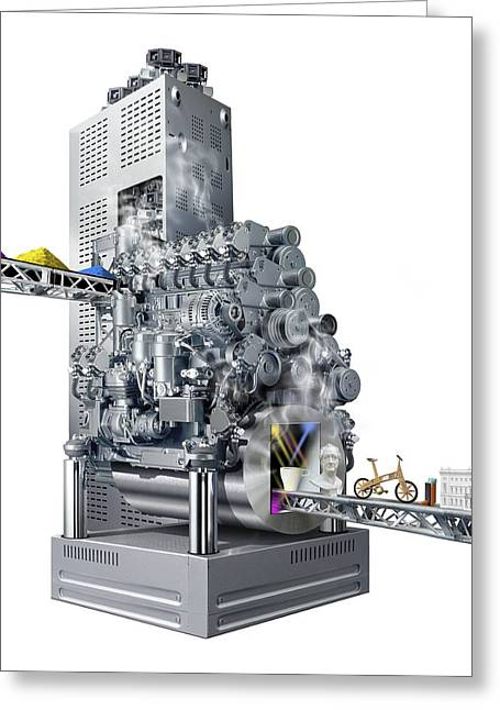 Lego Greeting Cards - 3D printer, conceptual artwork Greeting Card by Science Photo Library