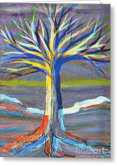 Layer Greeting Cards - 3D Tree by jrr Greeting Card by First Star Art