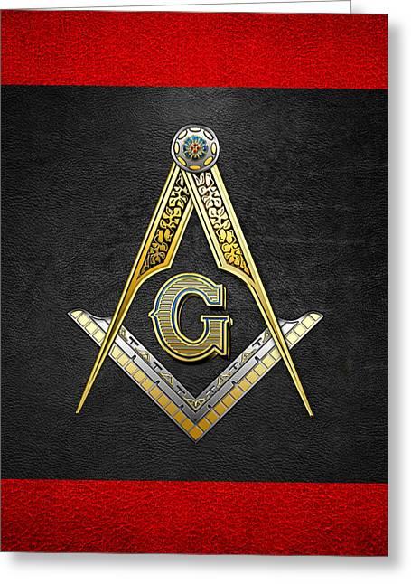 Jewels Digital Greeting Cards - 3rd Degree Mason - Master Mason Masonic Jewel  Greeting Card by Serge Averbukh
