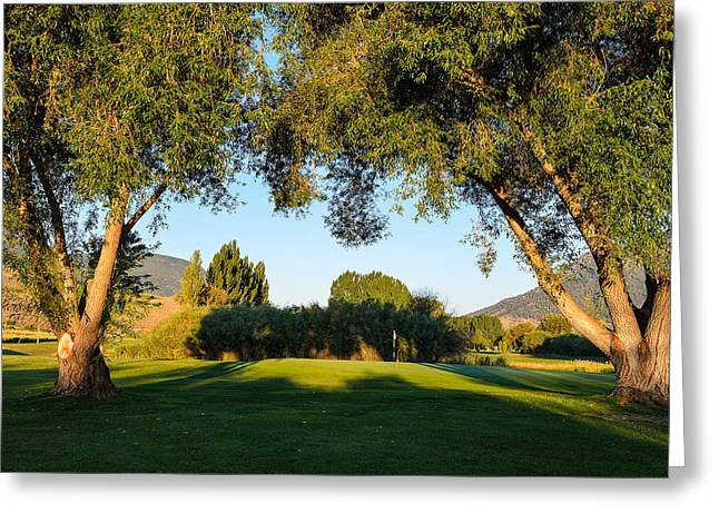 3rd Green At Quilchena  Greeting Card by Randy Giesbrecht