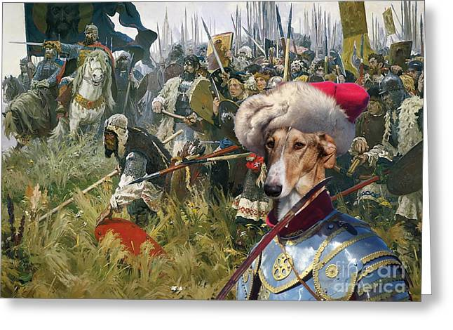 Greyhound Dog Greeting Cards -  Chart Polski - Polish Greyhound Art Canvas Print Greeting Card by Sandra Sij