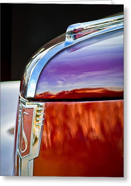 1939 Greeting Cards - 1939 Studebaker Commander Hood Ornament Greeting Card by Jill Reger