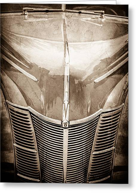 1940 Ford Greeting Cards - 1940 Ford Deluxe Coupe Grille Greeting Card by Jill Reger