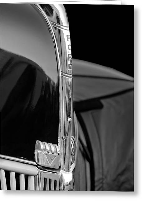 1940 Ford Greeting Cards - 1940 Ford Hood Ornament Greeting Card by Jill Reger