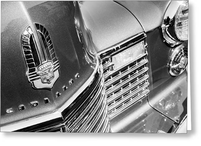 Caddy Photographs Greeting Cards - 1941 Cadillac Emblem Greeting Card by Jill Reger